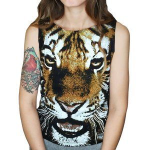 Y2K Tiger Graphic Sleeveless Top